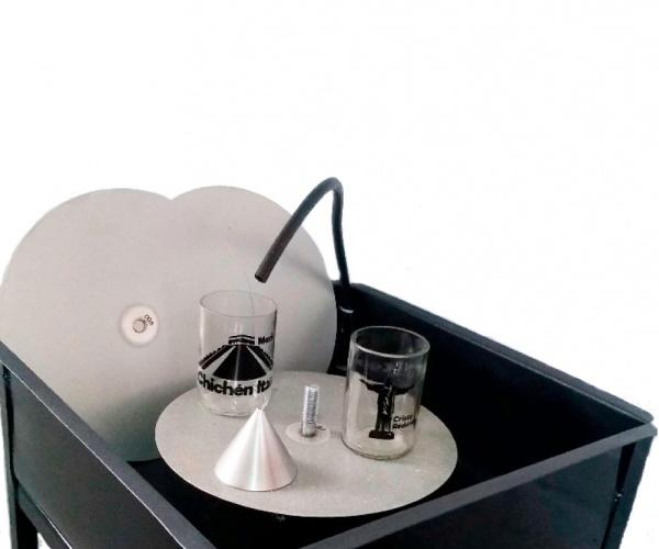 Pulidora de botellas de vidrio para vasos